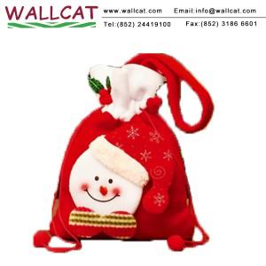 聖誕雪人絨布禮物袋