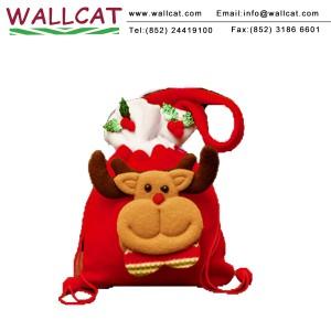 聖誕麋鹿絨布禮物袋