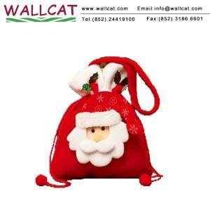 聖誕老人絨布禮物袋